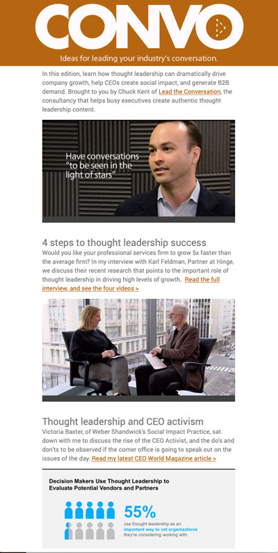 thought leadership newsletter