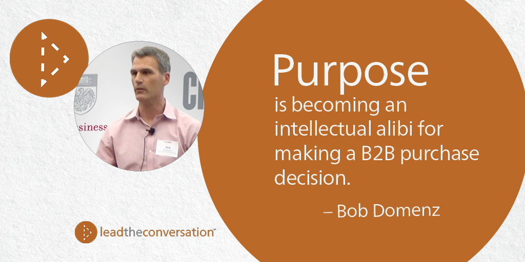 Bob Domenz CEO Avenue on B2B brand purpose